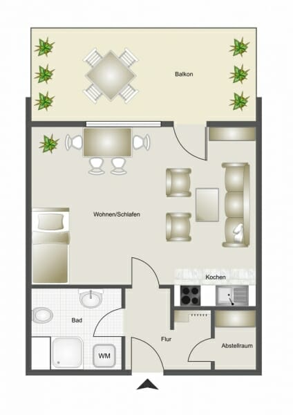 Günstige Starter-Wohnung, kurzfristig frei! - Grundriss