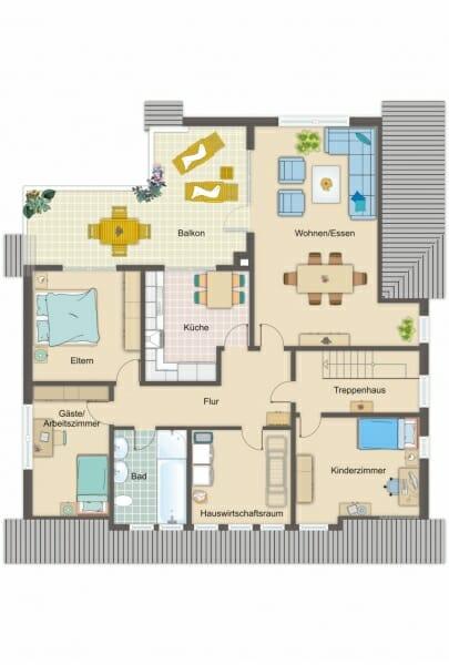 Provisionsfrei für den Käufer:  4-Zimmer-Dachgeschosswohnung zur Eigennutzung oder Kapitalanlage - Grundriss
